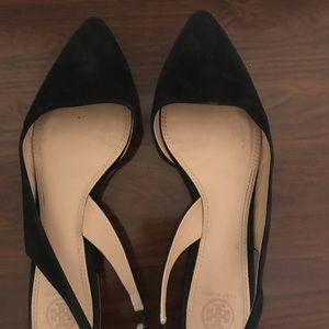 Tory Burch pointed toe suede flats